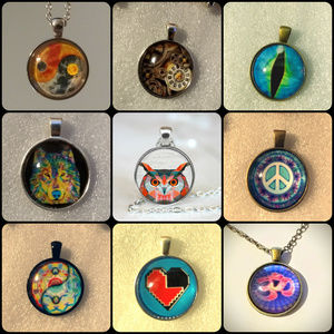 NECKLACES - 4 for $20 - random - cabochon retro